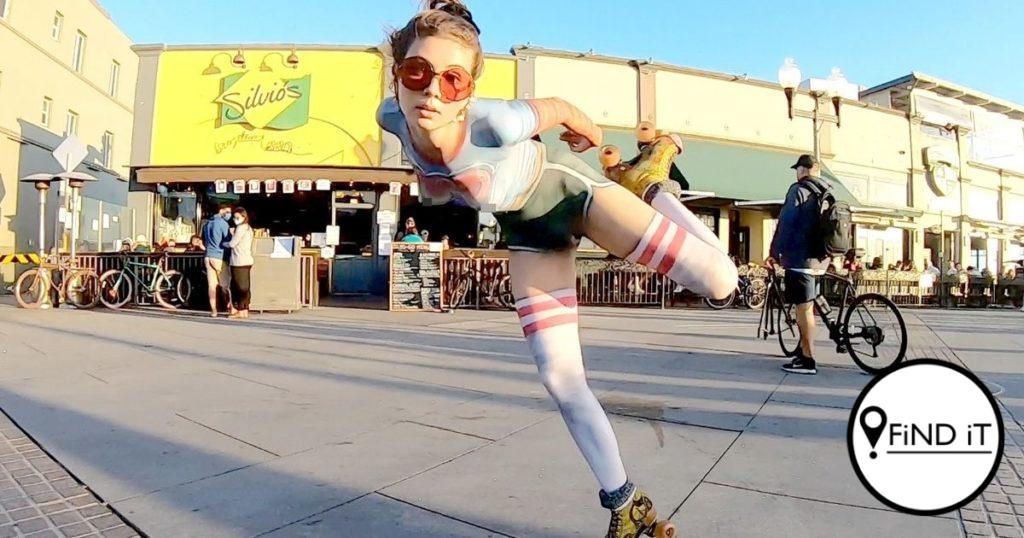 Not everyone was fooled by the Rollerskater with the naked vintage outfit