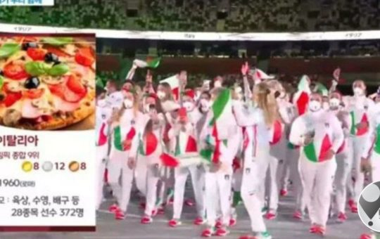 South Korea TV sorry for using pizza to depict Italy at opening ceremony